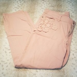 Hot Kiss Skinny Lily Dusty Pink Embellished Jeans